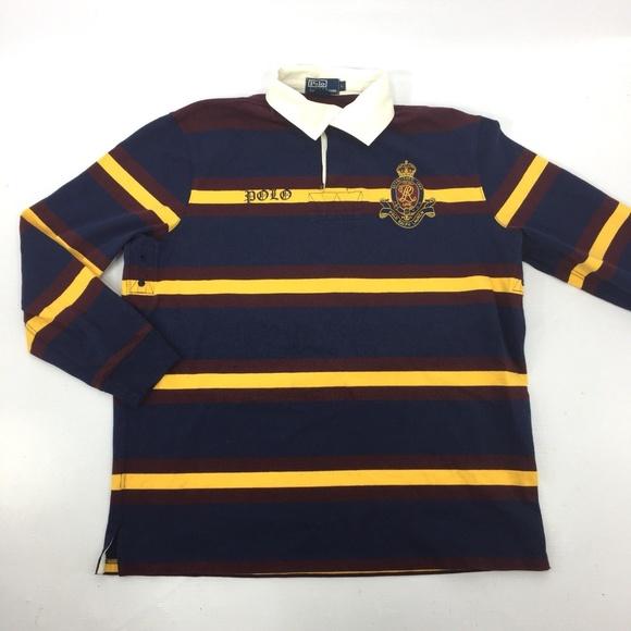 2bbf2dabb43 POLO Ralph Lauren Striped Rugby Shirt Crest L #8. M_5aa815208290afc4c84730f7